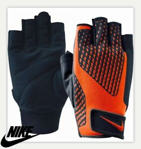 Red Nike Core Lock 2.0 Mens Weight Lifting Training Gym Workout Gloves