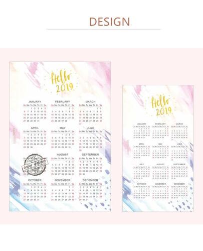 A5 A6 Paper 2019 Calendar Kalendar Colorful Paper Cute Index Divider Separator