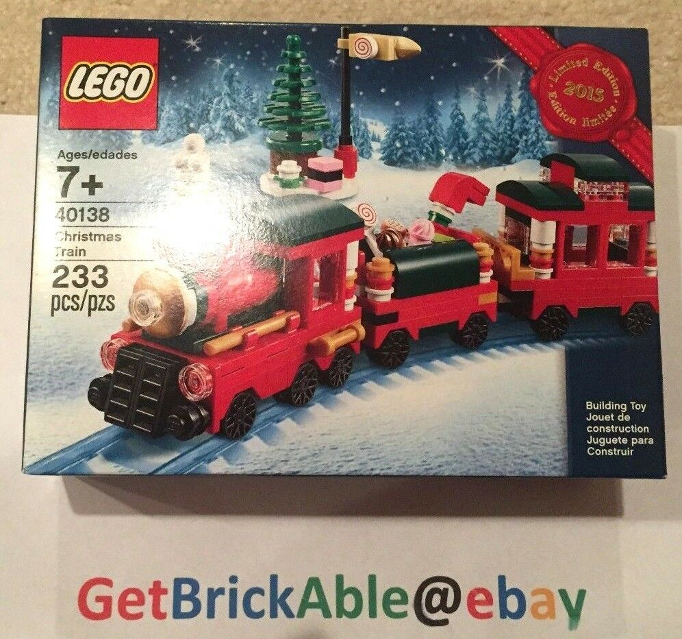 LEGO 40138 Christmas Train Limited Edition 2015 Holiday Set Nuovo Sealed