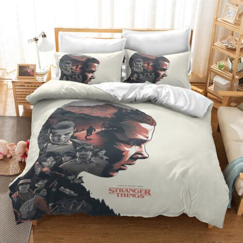 3D Stranger Things Pattern Bedding Set Kids Quilt Duvet Cover Pillowcase new100/%