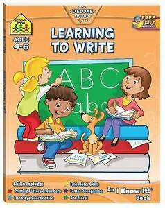 School-Zone-Learning-to-Write-Ages-4-6-by-Hinkler-Books-NEW-Free-Shipping