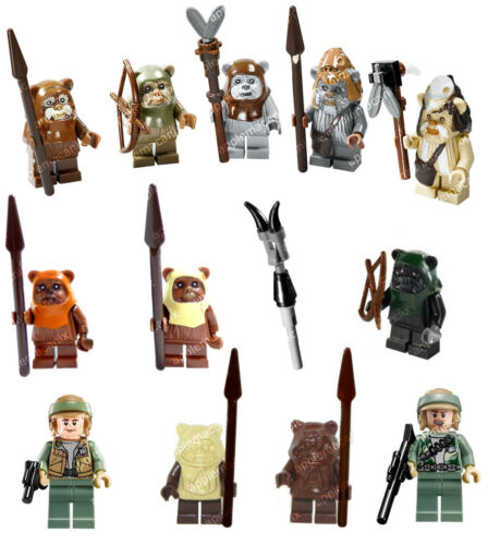 NEW LEGO Star Wars 10236 7956 8038 7139 COMPLETE EWOK SET 12 Minifigures Figures