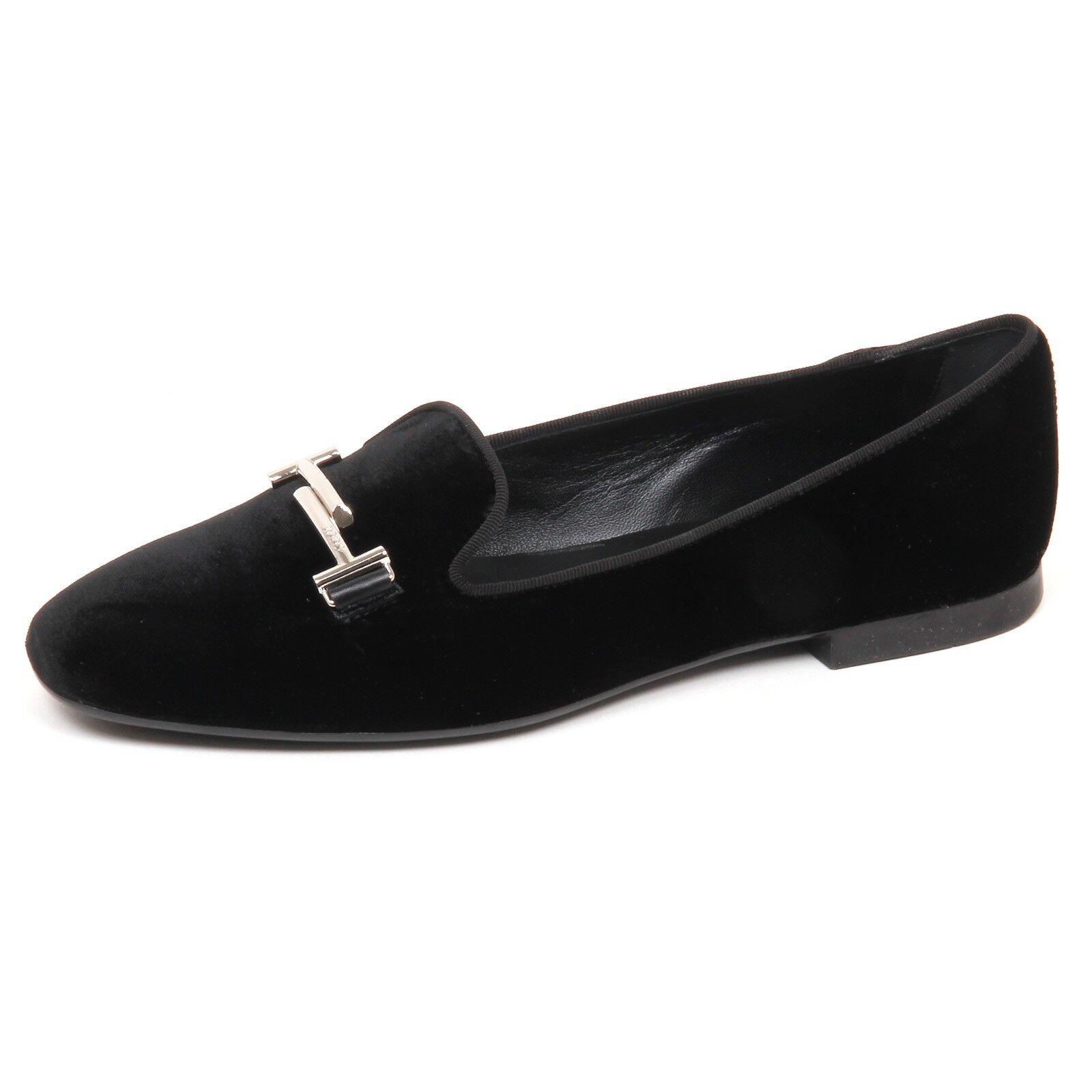 E2822 bailarina mujer mujer mujer Velvet Tod's zapatos negro velluto zapatos Woman  ventas al por mayor