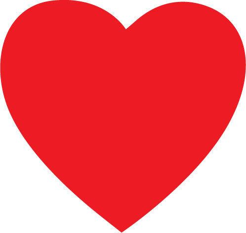 10 cm x 10 cm chacun Autocollant unique Rouge Coeur x 6 pare-chocs autocollant en vinyle