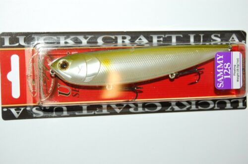 """lucky craft sammy 128 topwater lure 5/"""" 1oz floating pearl ayu walk the dog"""