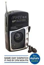 AM/FM Portable Battery Transistor Pocket Radio + Earphones Lloytron Entertainer