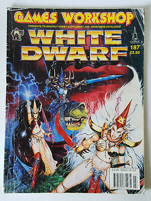 #187 White Dwarf Magazine Games Workshop Cittadella Miniature Vintage 1980/90s- Tempi Puntuali