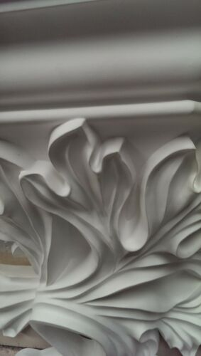 Large Victorian White Hanging Display Support Mur Sculpté Display New étagère CR2