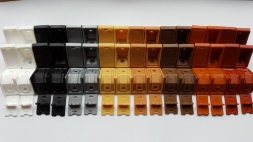 PLASTIC CORNER CONNECTING BRACKET SHELVING FIXING SUPPORT PACK SIZE 20