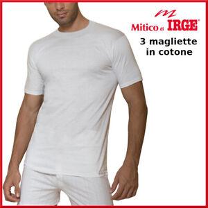 3 maglie intimo da uomo intima intime magliette in cotone manica corta girocollo