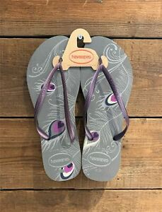 e3a4a097d Havaianas Slim Peacock Grey   Purple Flip Flops UK 8 9 (Brasil 41 42 ...