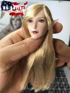 "1/6 Fairy Elf Female Head Detachable Ears SET043 For 12"" Figure PHICEN ❶USA❶"