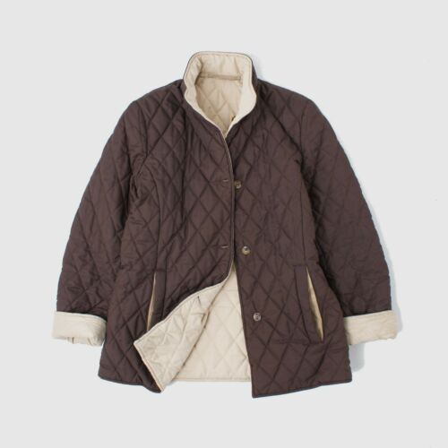 3250$ LORO PIANA REVERSIBLE DIAMOND QUILTED BROWN/