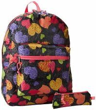 New Trailmaker Big Girls'  Backpack with pencil case Hearts One Size