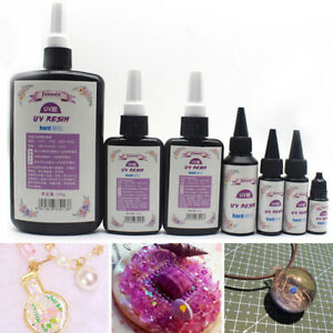 10-60g-Epoxy-UV-Resin-Ultraviolet-Curing-Solar-Cure-Sunlight-Activated-Hard-DIY-amp