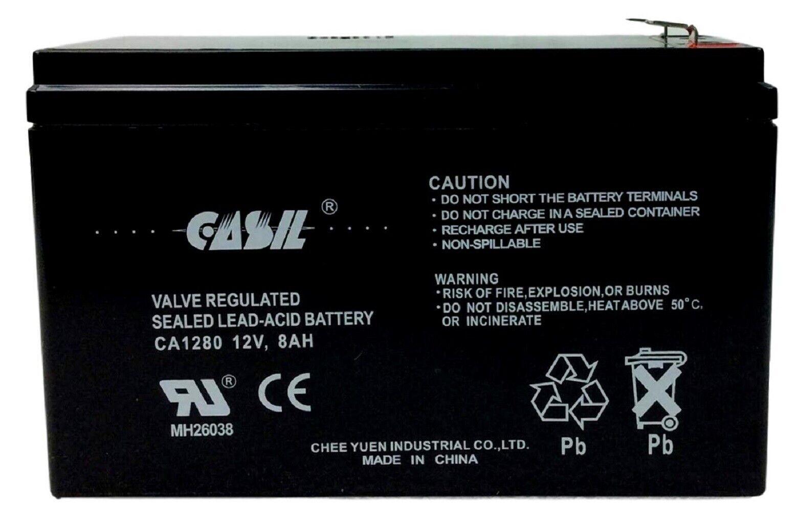 12V 7Ah Sealed Lead Acid Alarm Replacement Battery for ECO GS12V7AH GS 12V7AH SLA