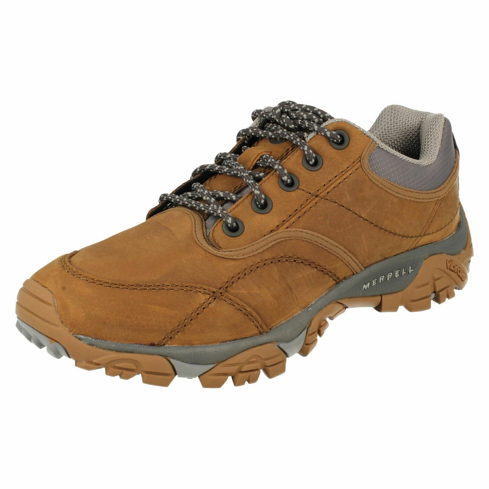 Mens Merrell Moab Rover Tan Leather Casual Lace Up Walking Hiking shoes