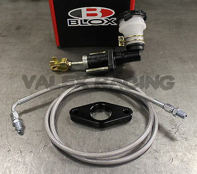 BLOX BLACK S2000 CMC CLUTCH MASTER CYLINDER KIT W/Gunmetal Clutch Line & Adapter