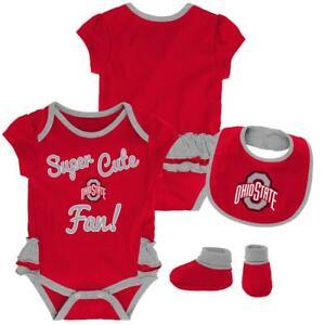 Outerstuff NCAA Ohio State Buckeyes Infant and Toddler Zip Up Hooded Sweatshirt