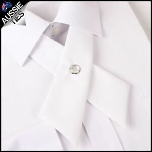 White-Womens-Cross-Style-Bow-Tie