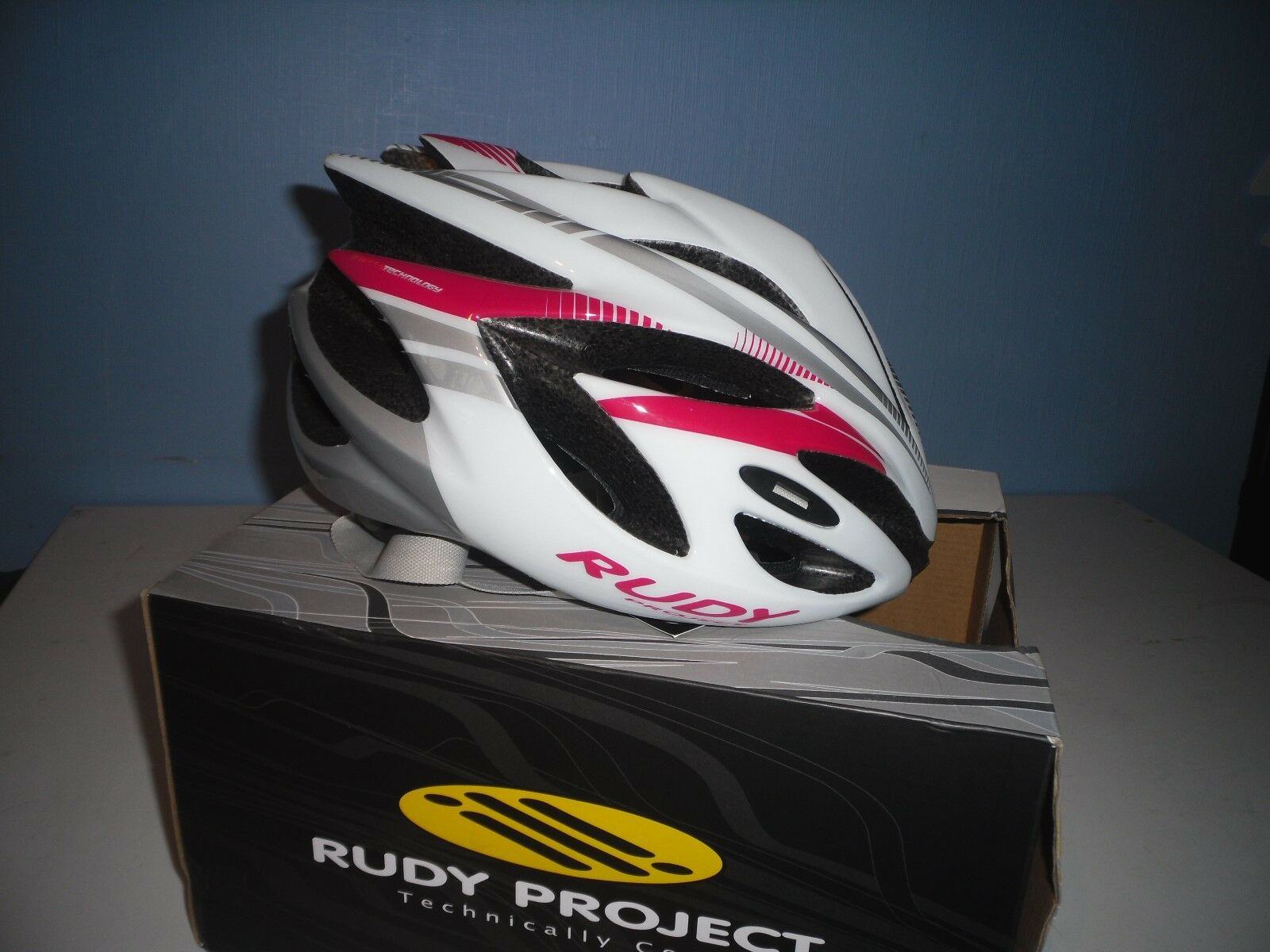 RUDY PROJECT  RUSH ROAD HELMET WHITE RUBIN SHINY  free shipping on all orders