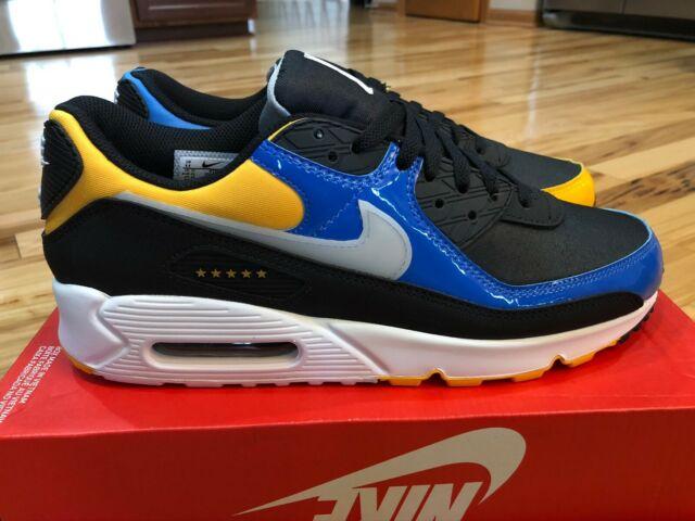 Nike Air Max 90 Premium City Pack Shanghai Black Yellow Blue CT9140 001 Size 11