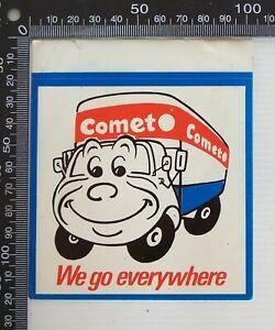VINTAGE-COMET-OVERNIGHT-TRANSPORT-WE-GO-EVERYWHERE-POS-ADVERTISING-PROMO-STICKER