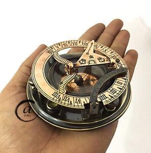 Christmas-Steampunk-Nautical-Gift-Compass-With-Sundial-Clock-Marine-Maritime