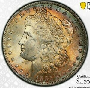 1885-O-USA-MORGAN-SILVER-DOLLAR-PCGS-MS63-UNC-TONED-CHOICE-COLOR-BU-15-DR