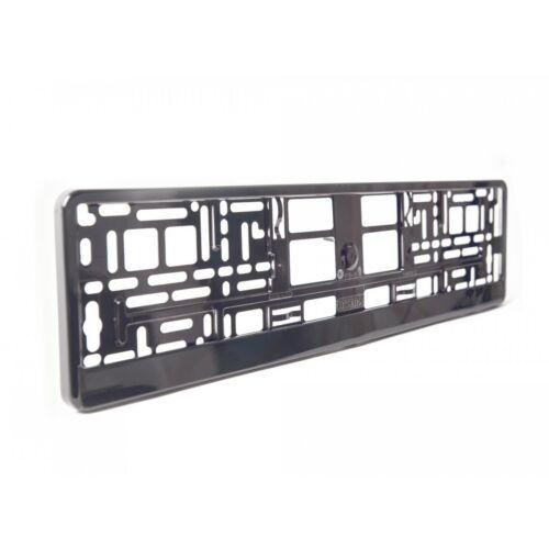 2 x Graphite Chrome Number Plate Holder Surround voiture le meilleur Bon pour Voiture//Van M