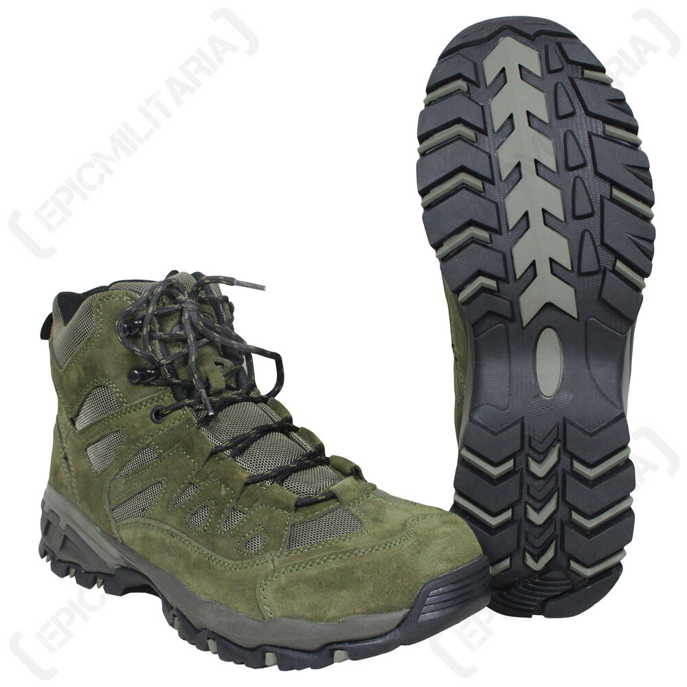 OLIVE GREEN All Military SQUAD Stiefel - All GREEN Größes Army Combat Style Mid Height Schuhe 1a48ae