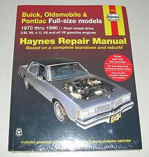 Reparaturanleitung Buick LeSabre + Electra, Pontiac Brougham + Bonneville etc.