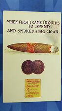 Vintage Comic Postcard 1910s Pawn Shop Pawnbroker Ticket Havana Cigar Penny Coin