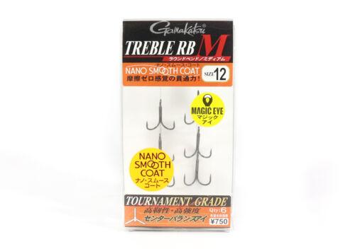 Gamakatsu 68449 Treble Hook RB M Nano Coat Size 12 4615