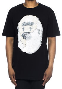 Hudson-Outerwear-Ape-Decorative-Sequin-Black-Short-Sleeve-Cartoon-Tee-Shirt