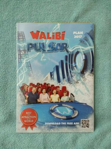 Walibi Belgium 2017 Theme Park Map Roller Coaster Amusement guide Collector