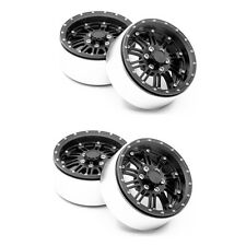 "4 Pcs Black 2.2"" Race Beadlock Wheels Rims for RC 1:10 Crawler Wraith 29MM Cars"