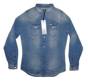 Diesel-Sonora-ne-0666Z-Jogg-Denim-Shirt-Groesse-S-100-Authentic