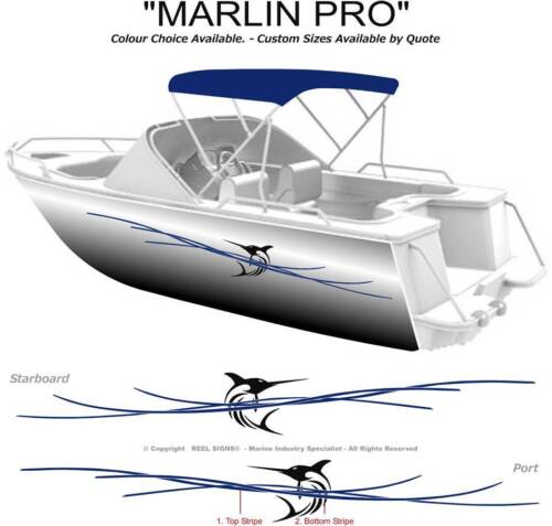 BOAT GRAPHICS DECAL STICKER KIT MARLIN PRO - 3200