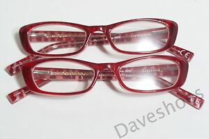 6378a10e17 New Women s 2 Pairs Foster Grant Wine Jackie WIN Reading Glasses w ...