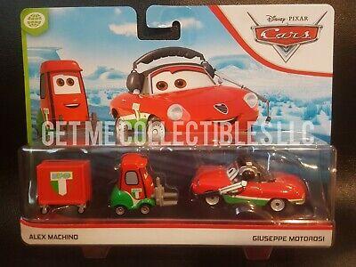 Disney Pixar Cars Alex Machino Giuseppe Motorosi Wgp 2020 2 Pack