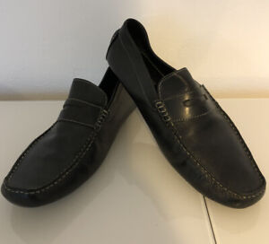 Austin Reed Black Penny Loafers Uk 11 Used Ebay