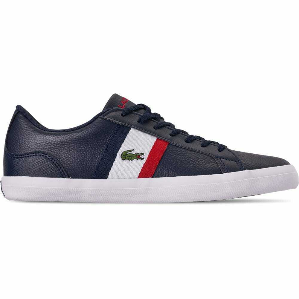 Men's Lacoste Lerond Casual shoes Navy Red White LEROND 7A2