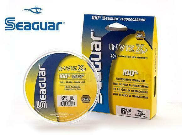 SEAGUAR INVIZX 100/% Fluorocarbon Line 12lb//1000yd 12 VZ 1000 FREE USA SHIP!