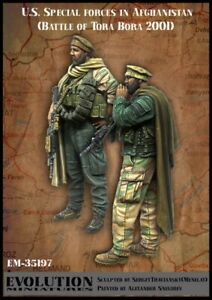 1-35-Resin-Modern-US-Special-Force-2-Soldiers-Unpainted-Unbuild-4395