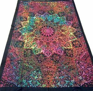 Elephants-Couvre-lit-indien-Tenture-indienne-Yoga-Batik-Coton-Tissu-Jete-lit-Y1