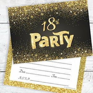 Olivia-Samuel-Black-and-Gold-Effect-18th-Birthday-Party-Invitations-Ready-to-W