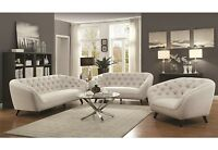 Mid-Century Modern 3 Piece Sofa Set Sofa Loveseat & Chair Living Room Furniture