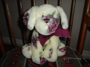 Ganz Rosalee Dog 12 inch 00793 Flower Velvety Plush HV6441 Heritage Collection
