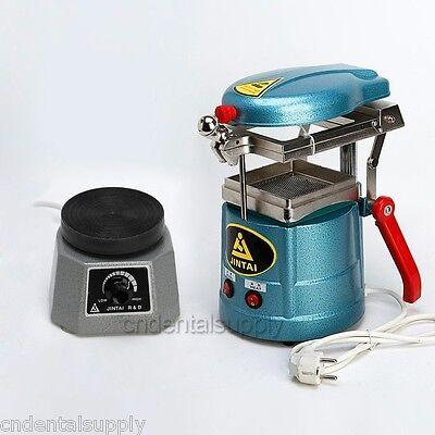 Dental Lab Equipment Vacuum Forming Molding Machine + Round Vibrator Vibrating
